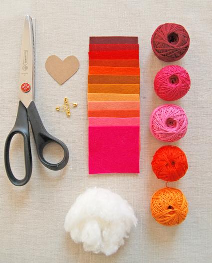 Valentinepins-materials